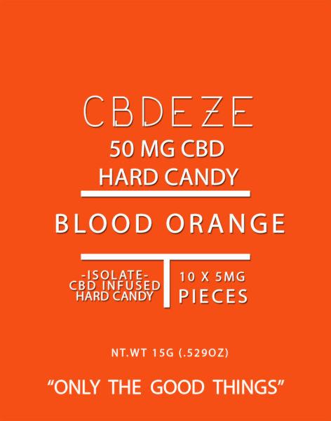 CBDEZE 50 MG Hard Candy - Blood Orange