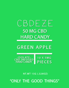 CBDEZE 50 MG Hard Candy - Green Apple