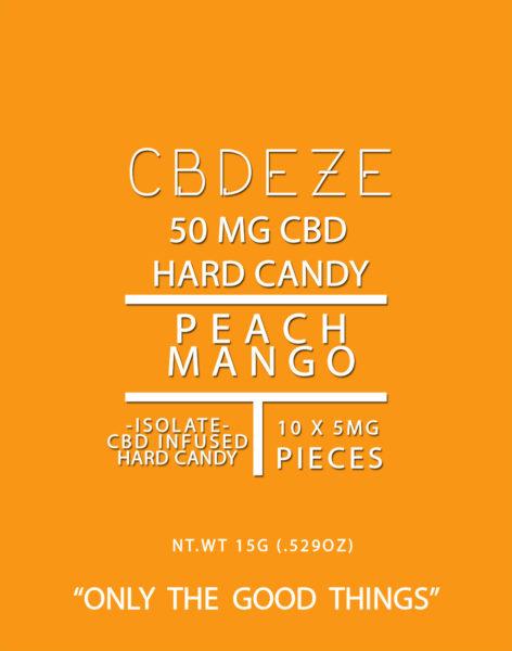 CBDEZE 50 MG Hard Candy - Peach Mango