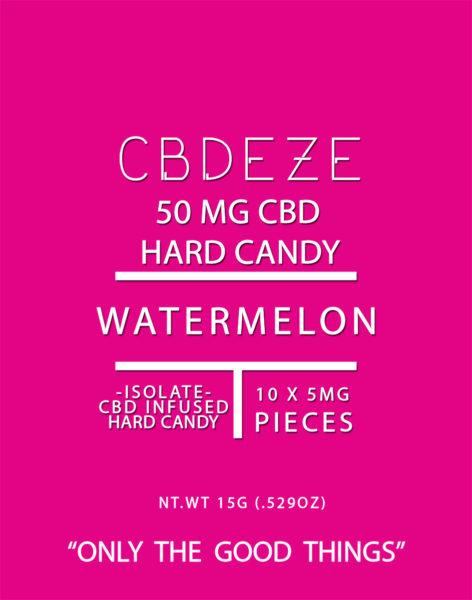 CBDEZE 50 MG Hard Candy - Watermelon