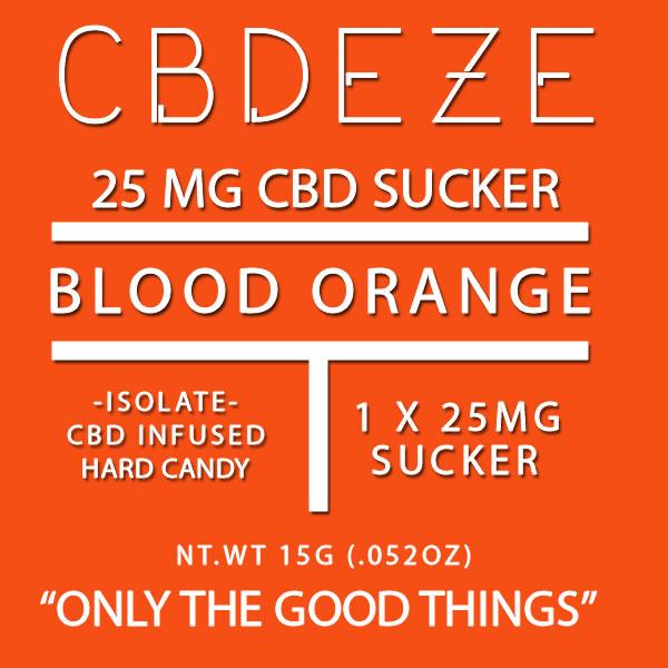 CGDEZE CBD Sucker 25 MG - Blood Orange