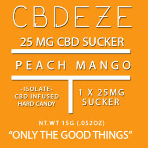 CGDEZE CBD Sucker 25 MG - Peach Mango