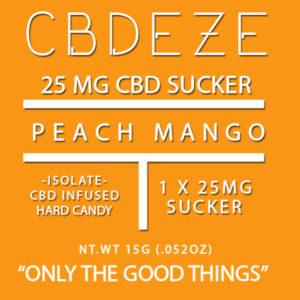 CGDEZE CBD Sucker 25 MG - Peach Mango