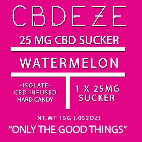 CGDEZE CBD Sucker 25 MG - Watermelon