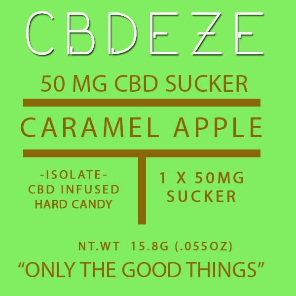 CGDEZE CBD Sucker 50 MG - Caramel Apple