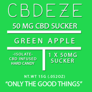 CGDEZE CBD Sucker 50 MG - Green Apple