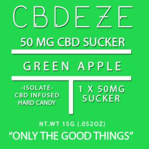 CGDEZE CBD Sucker 50 MG - Green Apple