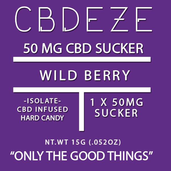 CGDEZE CBD Sucker 50 MG - Wild Berry