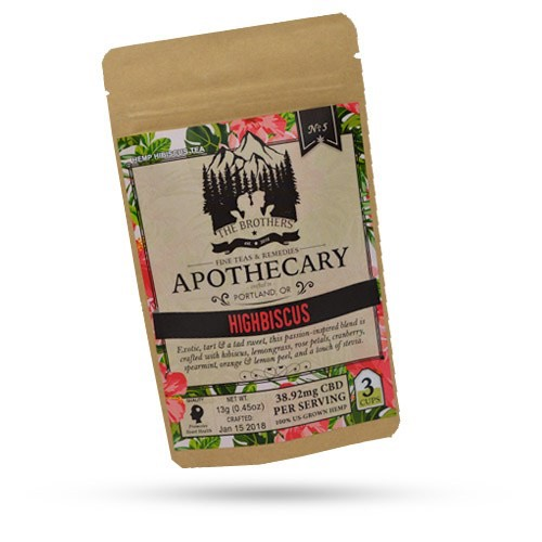 The Brothers Apothecary Highbiscus CBD Hemp Tea